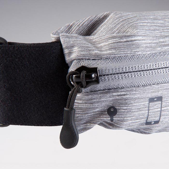各尺寸智慧型手機與鑰匙可調式跑步帶 - 灰色