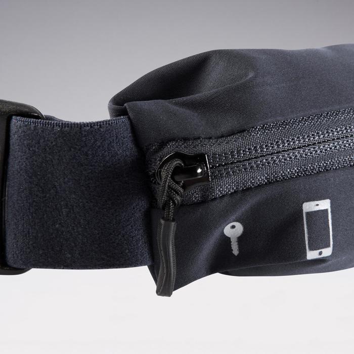 Verstelbare hardloopriem voor smartphone elk formaat en sleutels zwart