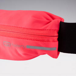 Adjustable running belt for any size of smartphone and keys - pink