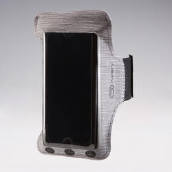Hardloop armband voor smartphone grijs