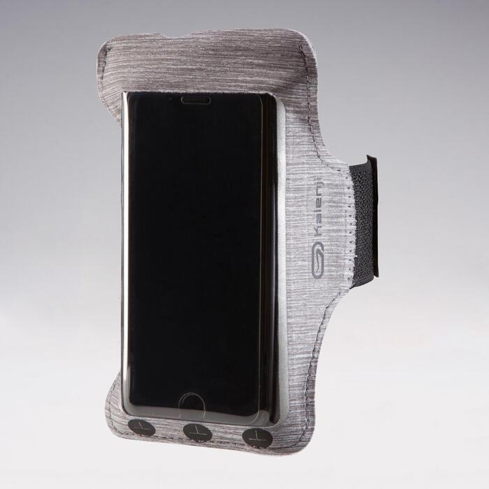 Hardloop armband voor smartphone staalgrijs
