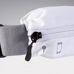 Ceinture running ajustable pour smartphone toute taille et clés blanche
