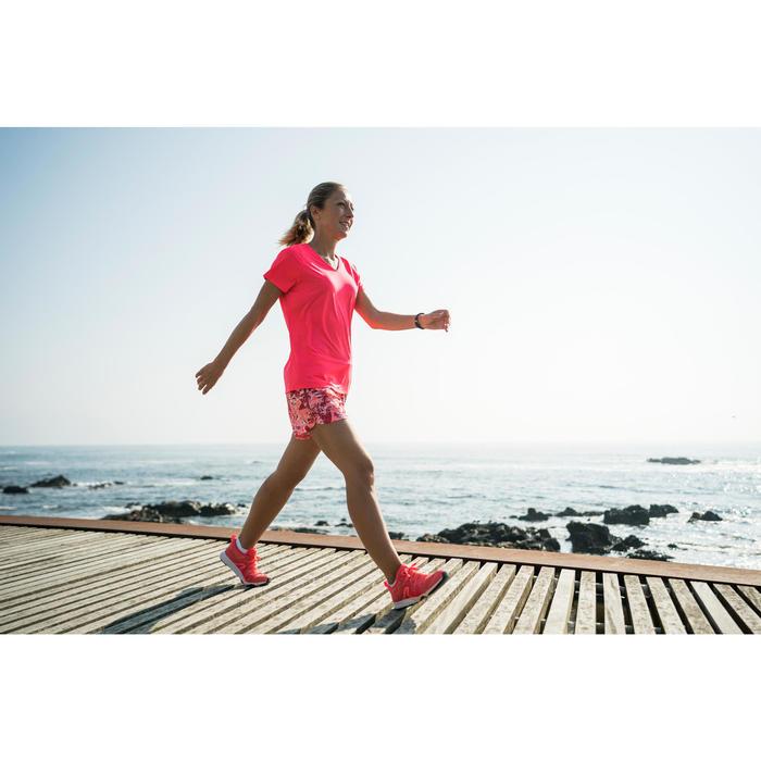 Damessneakers voor sportief wandelen PW 540 koraal