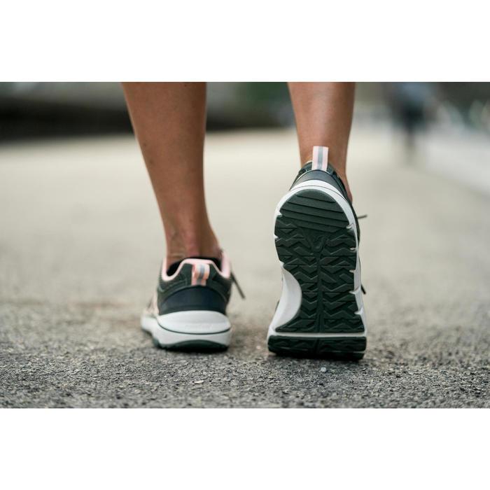 Walkingschuhe HW 500 Mesh Damen khaki