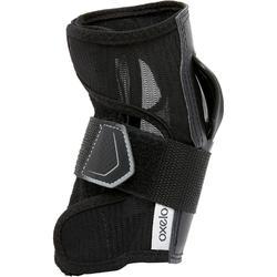 Polsbeschermers voor skeeleren/skateboarden volwassenen FIT500 zwart grijs