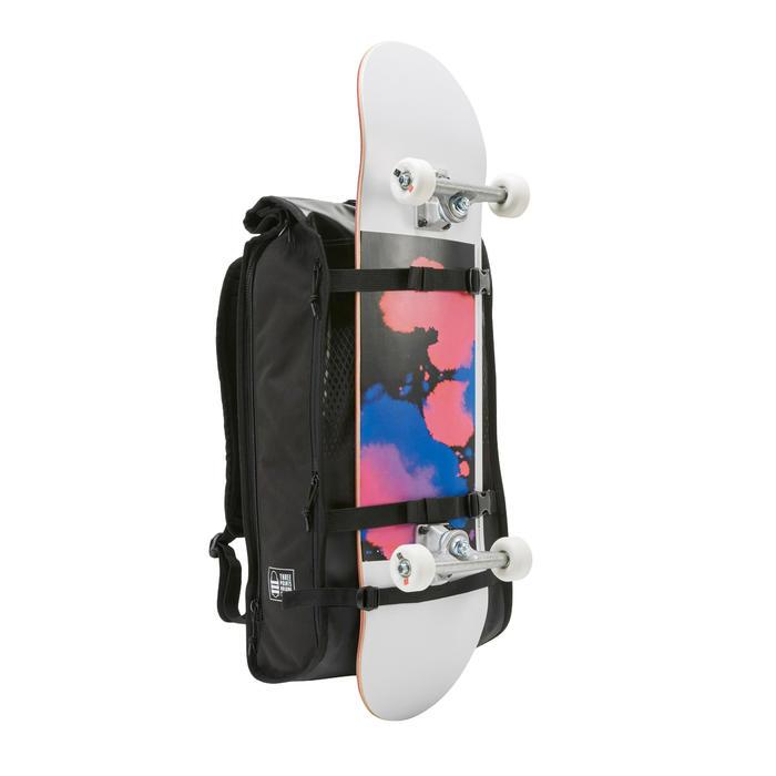 Rucksack Skateboard BG500 25Liter schwarz