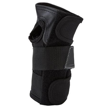 Защита запястий для роликов, скейтбордов для взрослых черно-серая FIT500