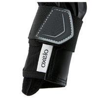Protège-poignets patin et planche à roulettes adulte FIT500 noirs gris