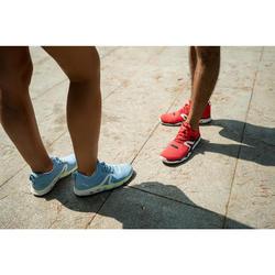 Chaussures marche sportive femme PW 500 Fresh bleu / jaune