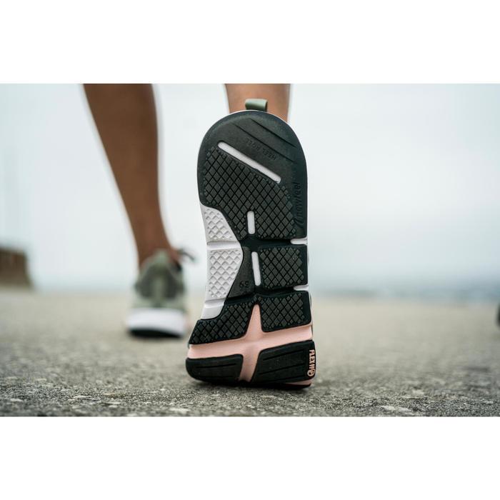 Damessneakers voor sportief wandelen PW 540 Flex-H+ kaki/roze