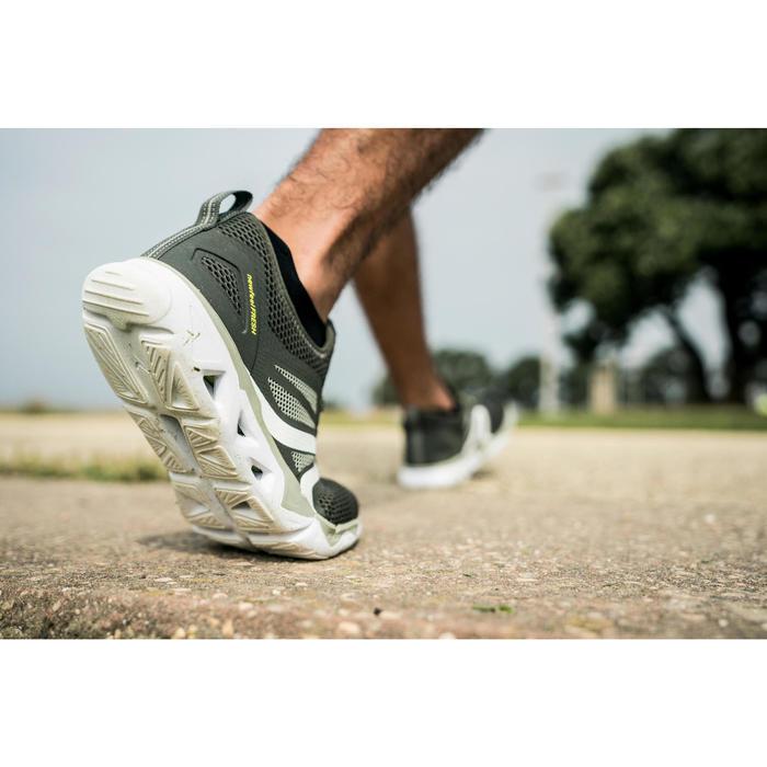 Herensneakers voor sportief wandelen PW 500 Fresh kakigroen