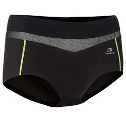 RUNNING BOXERS BLACK yellow edging
