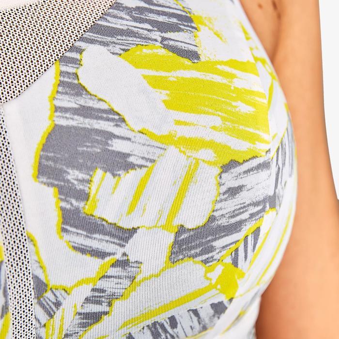 可調式罩杯跑步內衣KALENJI 迷彩黃