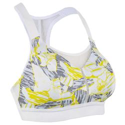 ADJUSTABLE RUNNING SPORTS BRA WITH CUPS CAMOUFLAGE YELLOW