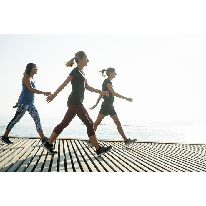 Freizeitschuhe Walking PW 540 Komfort Damen khaki/rosa