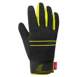 Isolerende wielrenhandschoenen Gore Windstopper zwart/geel