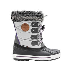 BIXA Girls' Waterproof and Insulating Snow Boots with Removable Liner.