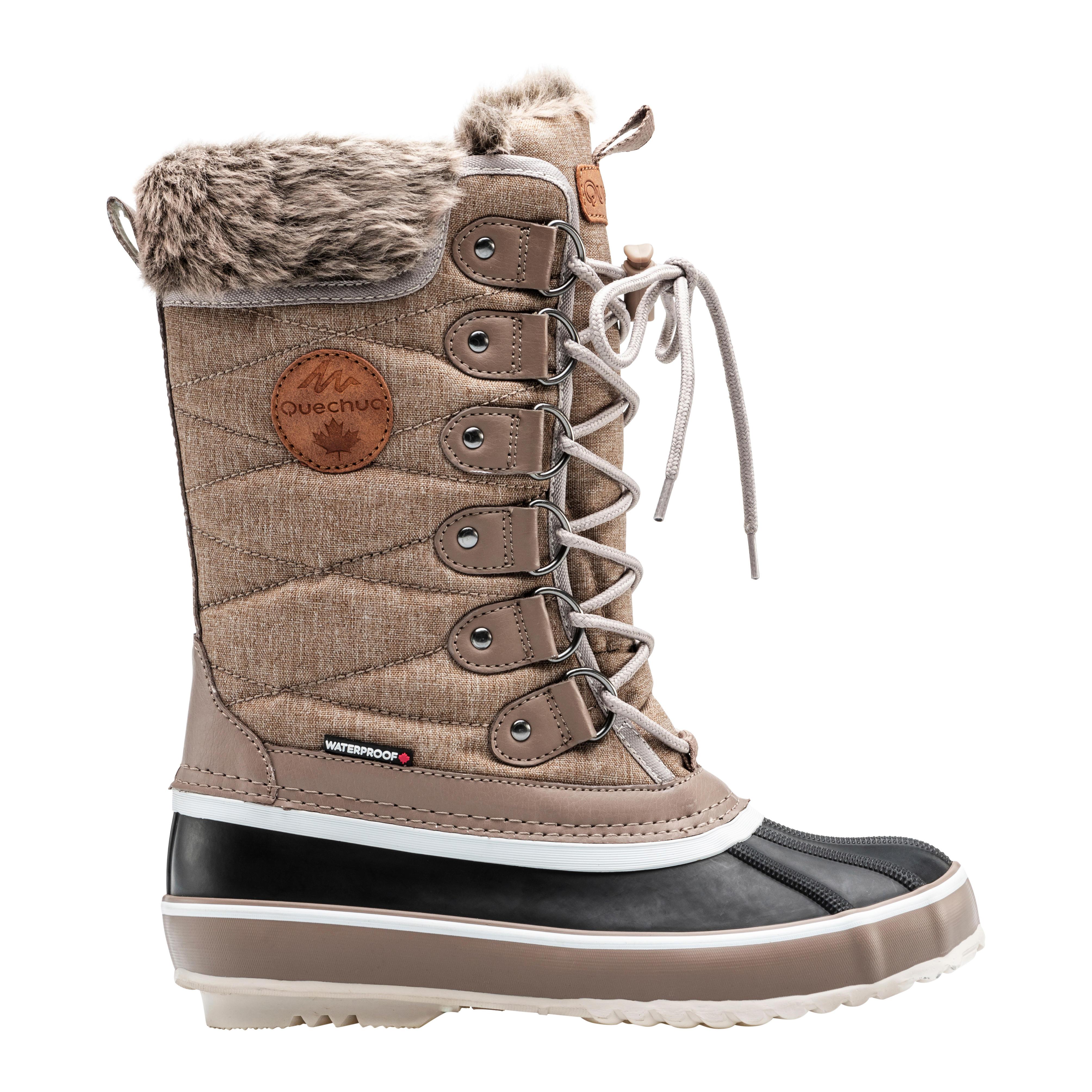 Botte neige JANA, imperméable et isolante pour femme, chausson amovible.