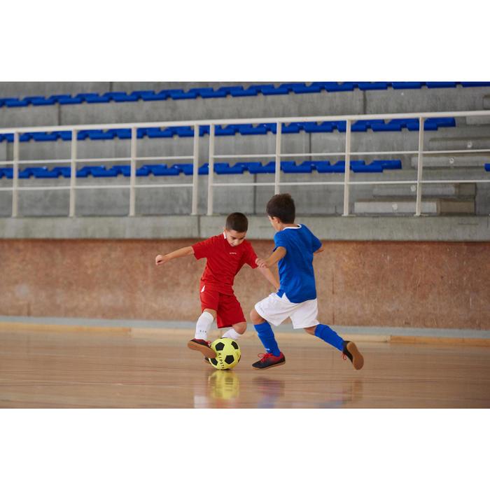 Zapatillas de Fútbol Sala Kipsta Agility 100 bebé negro rojo