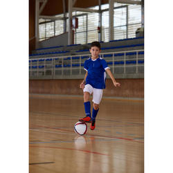 Chaussure de Futsal enfant CLR 500 à scratch rouge