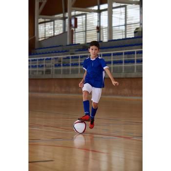 Hallenschuhe Futsal Fussball CLR 500 Kinder rot