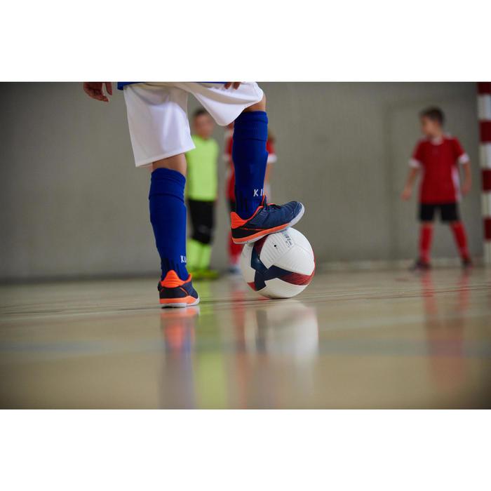 Hallenschuhe Futsal Fußball Eskudo 500 Kinder blau