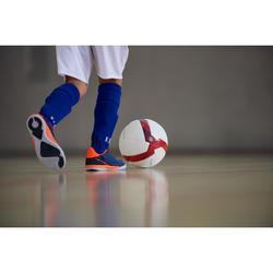 Zaalvoetbalschoenen kind Eskudo 500 klittenband blauw