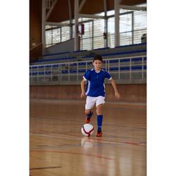 Hallenschuhe Futsal Fussball CLR 500 Klettverschluss Kinder rot