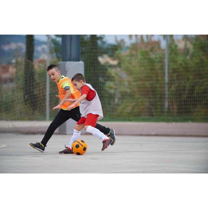 Zaalvoetbalschoenen kind CLR 900 zwart/oranje