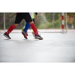 Zapatillas de Fútbol Sala Kipsta Eskudo 500 Barrio niños negro