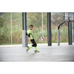 Hallenschuhe Futsal Fußball Eskudo 500 Kinder dunkelgelb