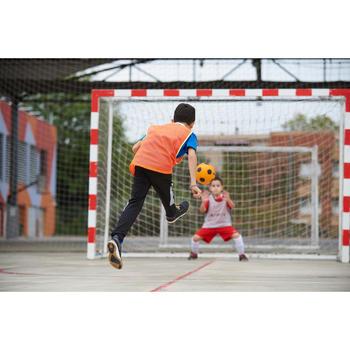 Zaalvoetbalschoenen kind Eskudo 500 Barrio grijs met klittenband