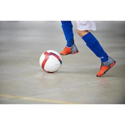 Balón de Fútbol Sala Kipsta 500 Híbrido 63 cm blanco y rojo