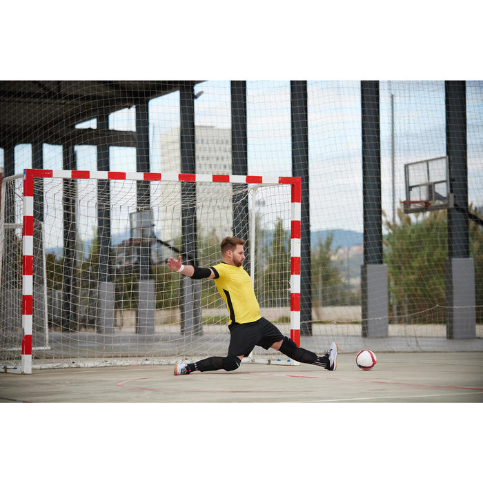 Zaalvoetbal 500 hybride maat 4 wit/rood