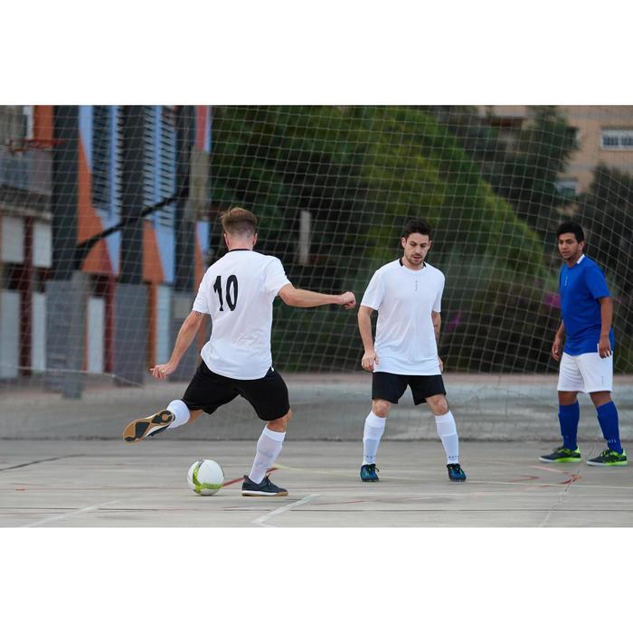 Futsalball 500 Fußball Hybrid 63cm weiß/gelb