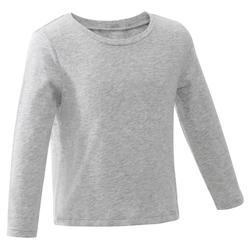 Baby Long-Sleeved Gym T-Shirt - Grey