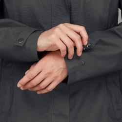 Abrigo Chaqueta Montaña y Trekking viaje Forclaz TRAVEL100 3en1 mujer gris