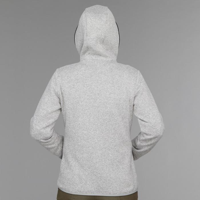 Veste 3en1 imperméable confort 0°C de trek voyage - TRAVEL 100 gris foncé-femme