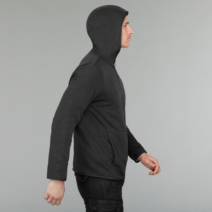 Men's 3-in-1 Travel Trekking Jacket - TRAVEL 100 - Grey