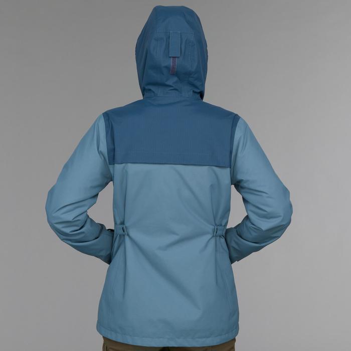 女款三合一健行外套TRAVEL 100-藍色