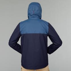 Men's 3-in-1 Travel Trekking Jacket - TRAVEL 100 - Blue