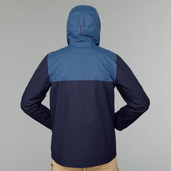 Veste 3en1 de trek voyage - TRAVEL 100 bleue homme