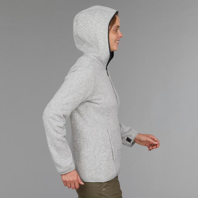 Women's Trekking 3-in-1 Jacket TRAVEL 100 - Dark Grey