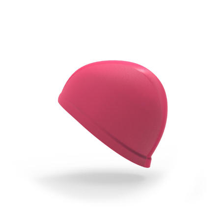 Bonnet de bain bébé rose en maille