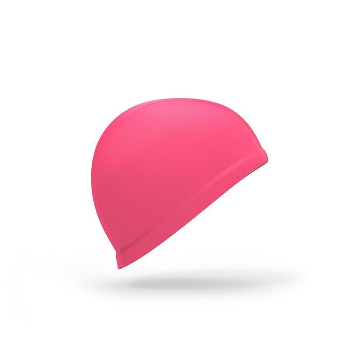 Stoffen babybadmuts roze
