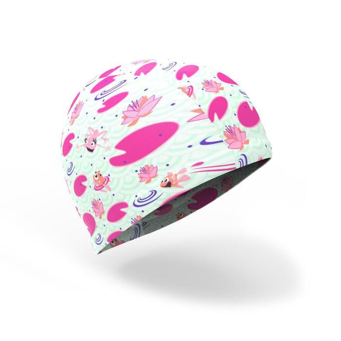 Stoffen badmuts voor peuters met flamingo-print