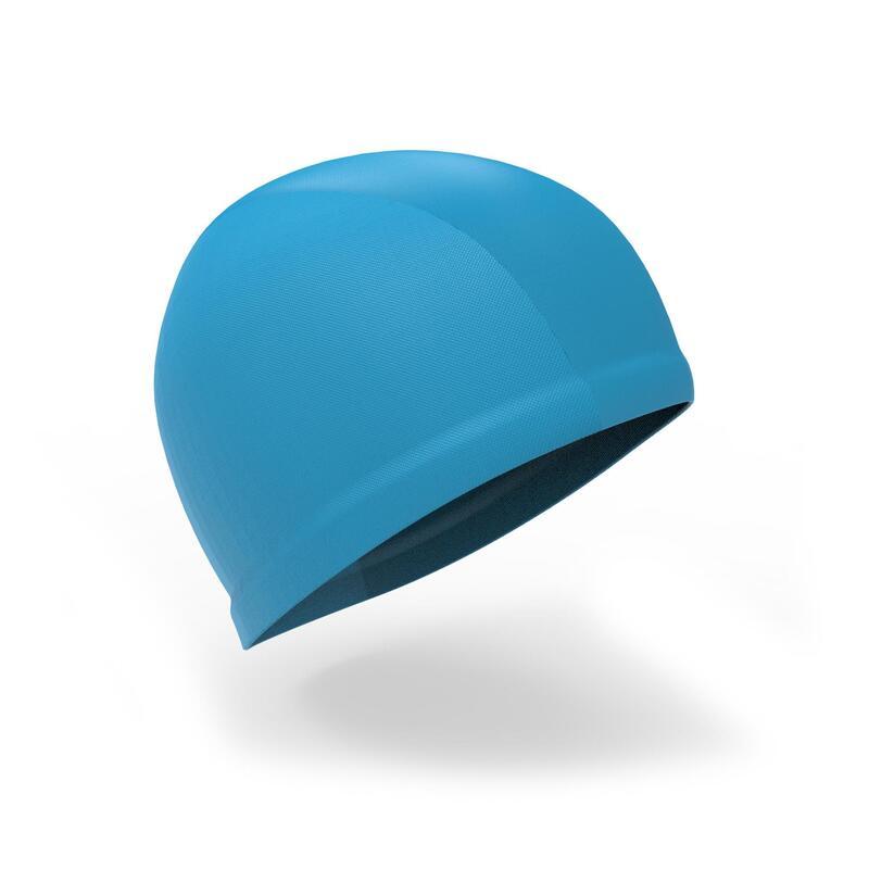 Bonnet de bain bébé bleu en maille