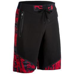 Sportbroekje crosstraining 900 voor heren, zwart/rood