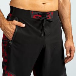 Pantalón Corto Chándal Cross training Domyos Hombre Negro Y Rojo 900