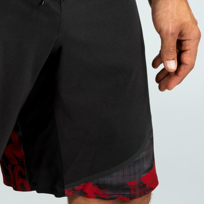 Shorts 900 Crosstraining Herren schwarz/rot